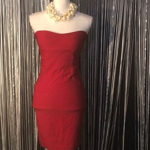 Body Central Strapless Red Dress
